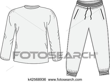 Sweatpants Set Clipart Survêtement Et Choses Croquis Veste cWcrzxvE