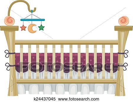 Clipart Altmodisch Kinderbett K24437045 Suche Clip Art
