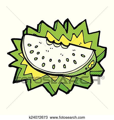 Melon slice variety Clipart   k15309623   Fotosearch