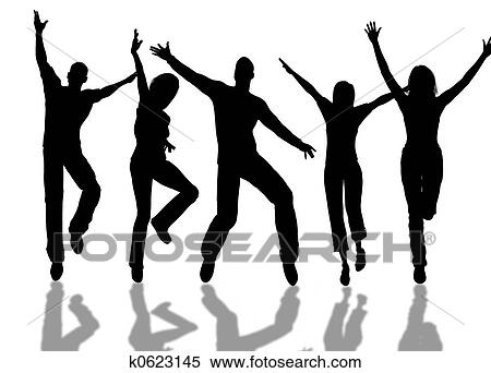 stock illustration of happy people k0623145 search clipart