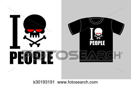Clipart Of I Hate People Symbol Of Hatred Skull With Bones Sign