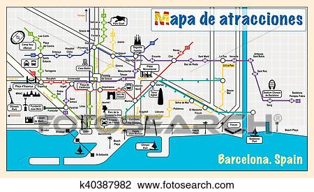 Subway Map Of Barcelona Spain.Metro Map Of Barcelona Piesinys