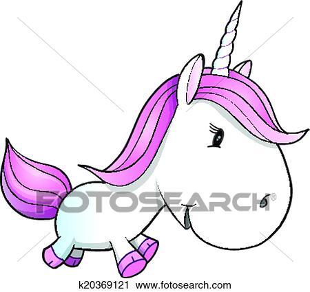 clipart mignon licorne poney vecteur fotosearch recherchez des clip arts - Poney Licorne