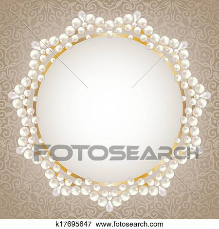 clip art of pearl frame k17695647 search clipart illustration