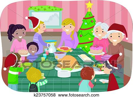 Christmas Party Images Clip Art.Stickman Christmas Party Clip Art