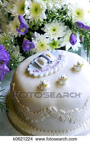 Taufe Kuchen Bild K0621224 Fotosearch