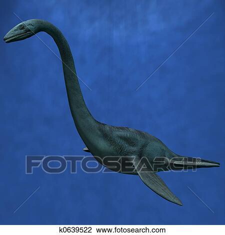 clip art of elasmosaurus k0639522 search clipart illustration