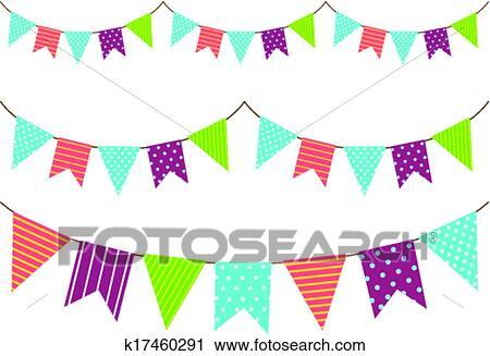 Clipart Girlande Deko K17460291 Suche Clip Art Illustration