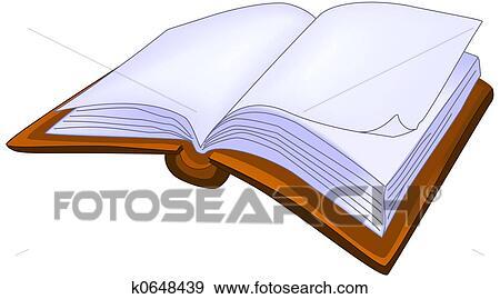 開いた 本 イラスト K0648439 Fotosearch