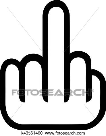 clipart of mouse hand with middle finger k43561460 search clip art rh fotosearch com middle finger clipart images middle finger clipart free