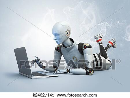Fußboden Roboter ~ Placebo effekt konzept medic roboter drogen rohr schwarze tafel