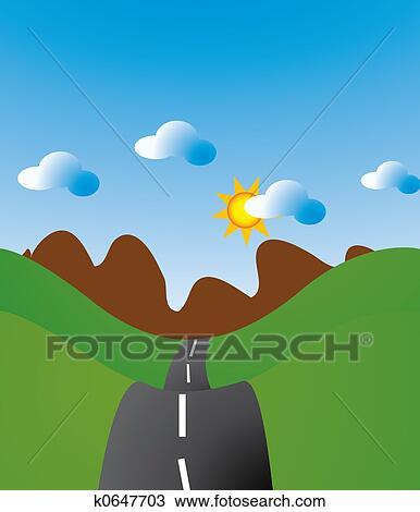 Dessin De Route dessin - route enroulement k0647703 - recherchez des cliparts, des