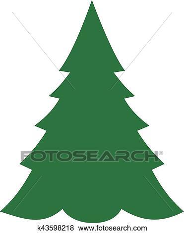 Symbol Weihnachtsbaum.Tanne Weihnachtsbaum Symbol Clip Art
