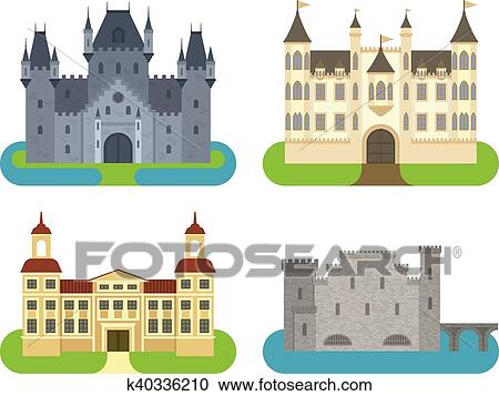 Clipart Chateau Dessin Anime Vecteur Illustration K40336210