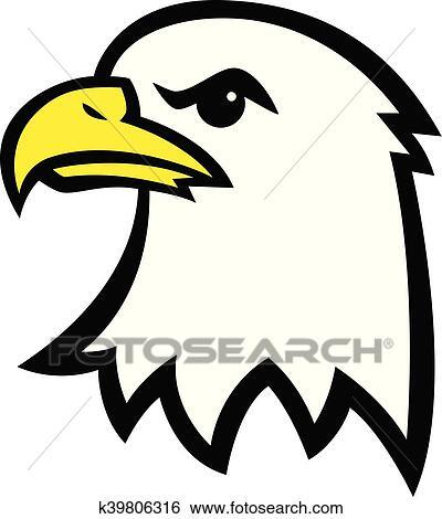 clip art of eagle head k39806316 search clipart illustration rh fotosearch com colorful eagle head clipart indian eagle head clipart