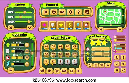 Game gui pack 04 Clipart