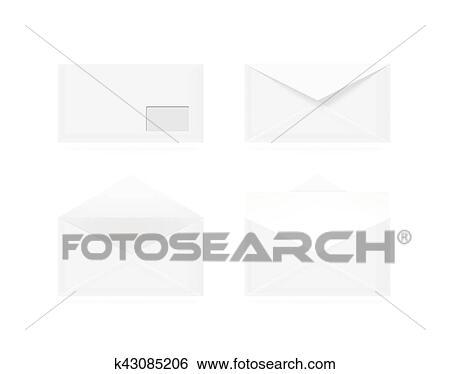 Dessin D Enveloppe banque d'illustrations - blanc, vide, enveloppe, railler, haut