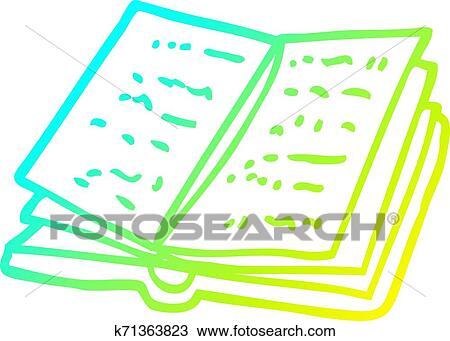 Open Book Line Drawing Book Clip Art