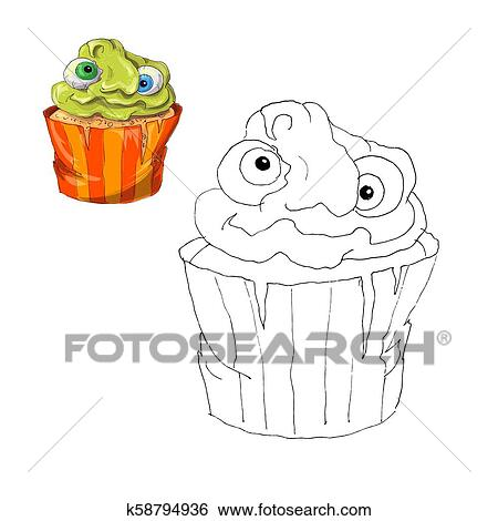 Printable Cupcake Coloring Pages Coloring And Drawing