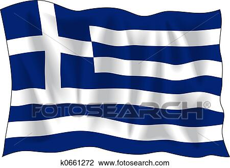 clip art of greek flag k0661272 search clipart illustration rh fotosearch com grease clipart greek clip art borders