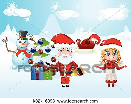 Santa and mrs claus clipart — pic 2