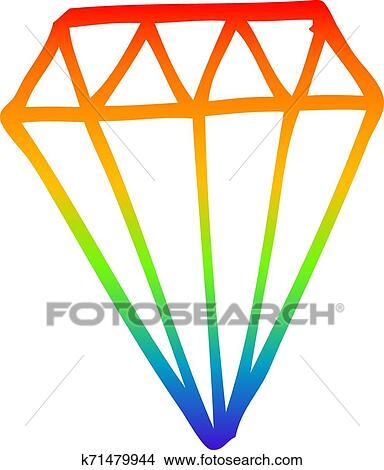 Arco Iris Gradiente Forre Desenho Caricatura Tatuagem