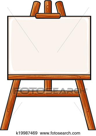 Clip Art Of Canvas On An Easel K19987469 Search Clipart