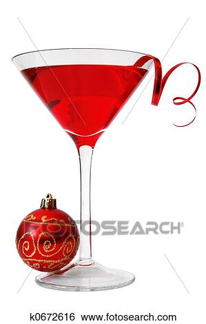 stock image christmas cocktail fotosearch search stock photography poster photos pictures - Christmas Martini Glasses