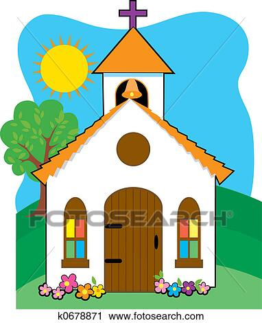Clipart Of Small Country Church K0678871