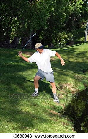 Angry Golfer Stock Image K0680943 Fotosearch