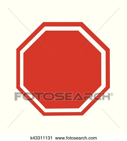 clipart of blank stop sign k43311131 search clip art illustration rh fotosearch com stop sign graphics morrisville stop sign graphics free