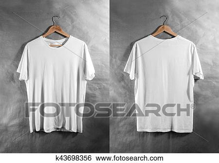 Stock Images Of Blank White T Shirt Front Back Side View Hanger