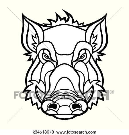 clipart cabeça javali mascote desenho k34518678 busca de clip