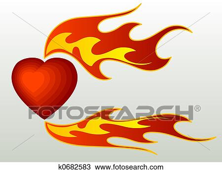 drawing of flames k0682583 search clipart illustration fine art