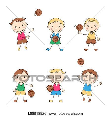 Funny Basketball Players Clip Art K58518926 Fotosearch
