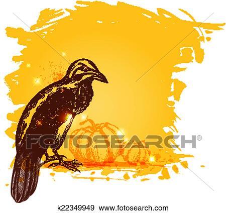 Halloween Raven Clip Art