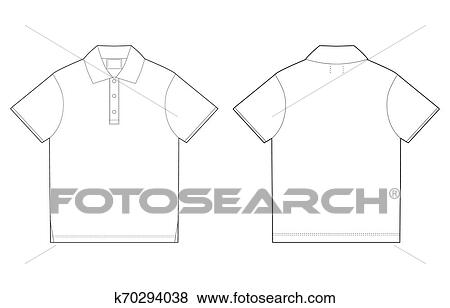 Polo T Shirt Design Template Front And Back Stock Illustration K70294038 Fotosearch