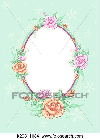 Clipart of Shabby Chic Floral Frame k20811684 - Search Clip Art ...