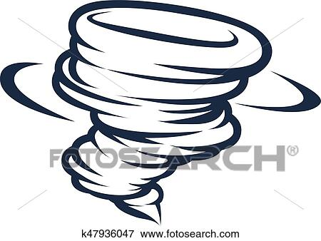 clip art of tornado cyclone hurricane twister icon k47936047 rh fotosearch com clip art tornado car clip art tornado car