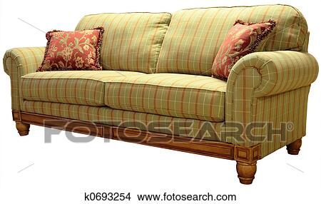 Country Plaid Sofa Picture K0693254