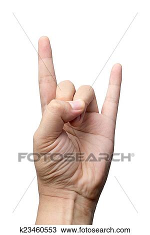 stock photo of devil hand sign k23460553 search stock images