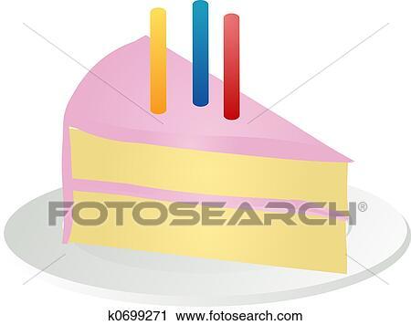Clipart Fetta Di Torta Compleanno K0699271 Cerca Clipart