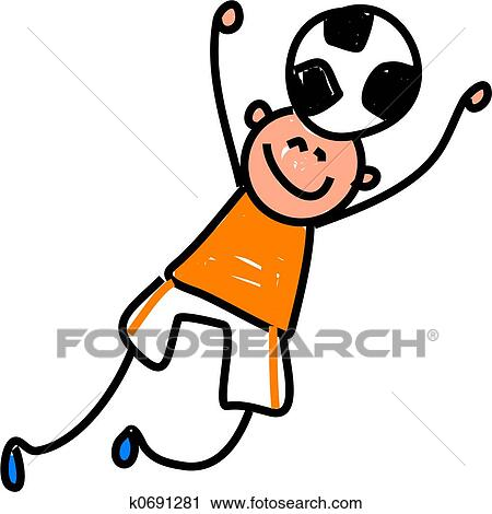 Clipart - fußball, kind k0691281 - Suche Clip Art ...