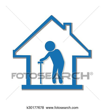 Nursing Home Symbol Illustration Clip Art K30177678 Fotosearch