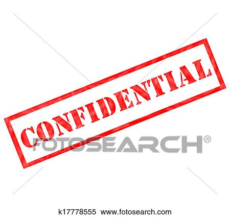 stock illustration of red confidential weathered stamp k17778555 rh fotosearch com private and confidential clipart free confidential clip art