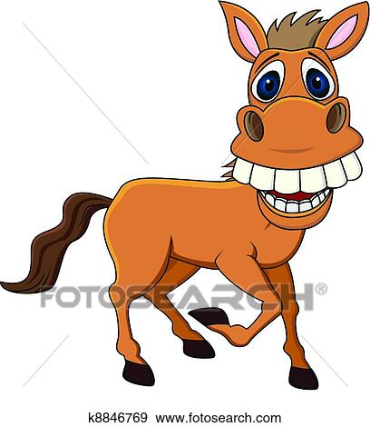 Clipart rigolote cheval k8846769 recherchez des cliparts des illustrations des dessins et - Clipart cheval ...