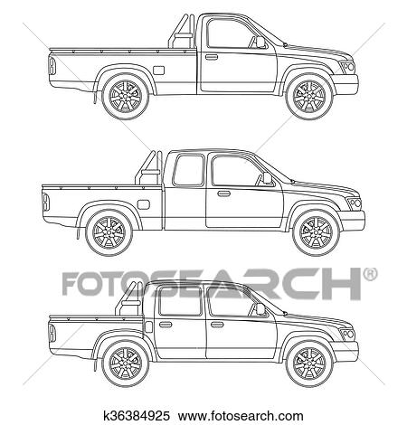 Clipart of car pickup truck vector illustration k36384925 search clipart car pickup truck vector illustration fotosearch search clip art illustration murals malvernweather Choice Image