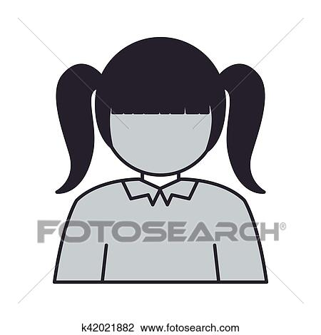 Girl With Pigtails Png, Vector, PSD, and Clipart With Transparent  Background for Free Download   Pngtree