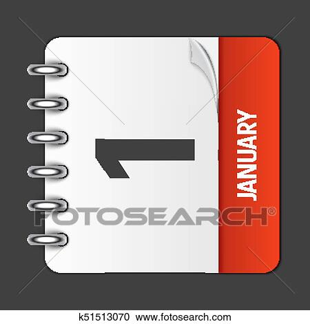 new year clipart january 1 calendar daily icon vector illustration emblem element of design for