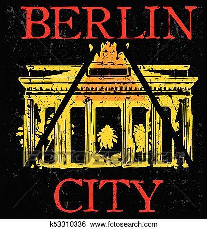2a6b8481613faa Clip Art - vector illustration Berlin, Germany, stylish graphics design for  t-shirts